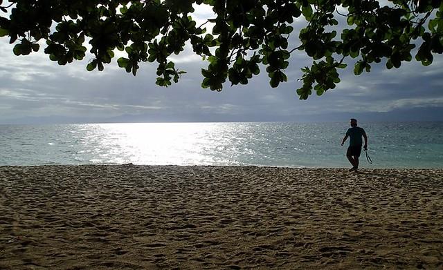 sunset lambug beach cebu