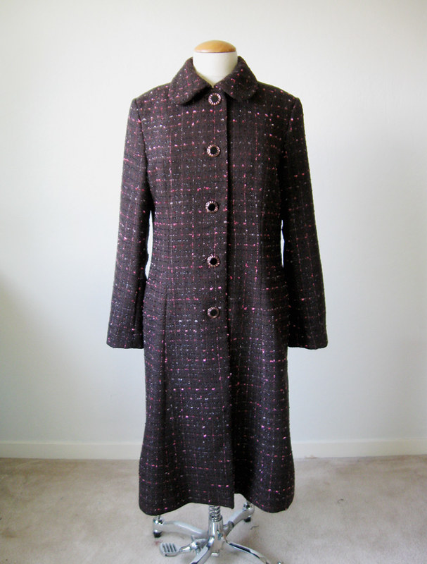 boucle coat front on form1