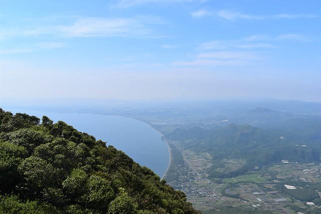開聞岳山頂からの海の展望