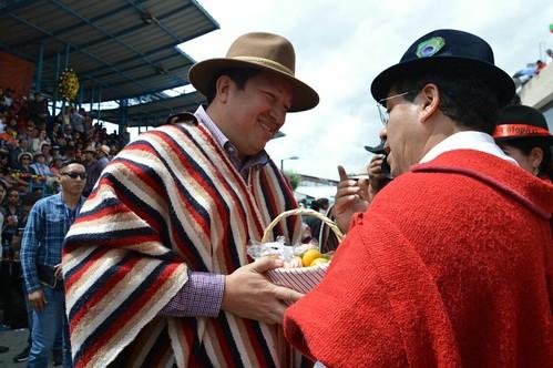 Ministro César Navas participó de la tradicional fiesta del Corpus Christi 2017, en Pujilí