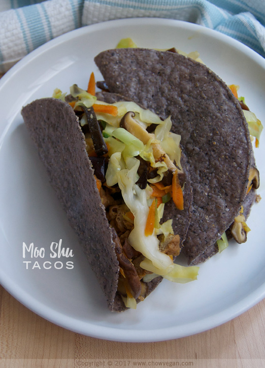 Moo Shu Veggie Tacos | Chow Vegan
