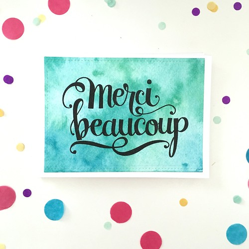 Thank you cards - merci beaucoup
