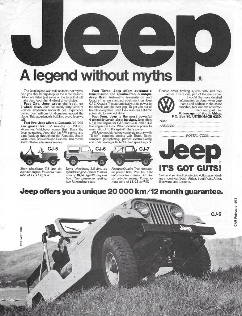 1978 Jeep Cj South Africa Cj 5 Cj 6 And Cj 7 Looks Li Flickr