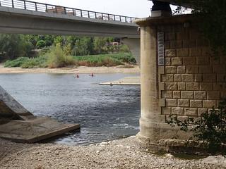 Nivel en el puente de hierro