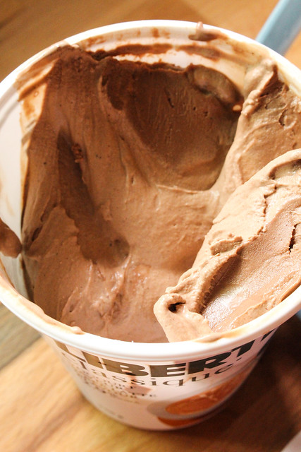 Old Fashioned Churned Malted Chocolate Ice Cream