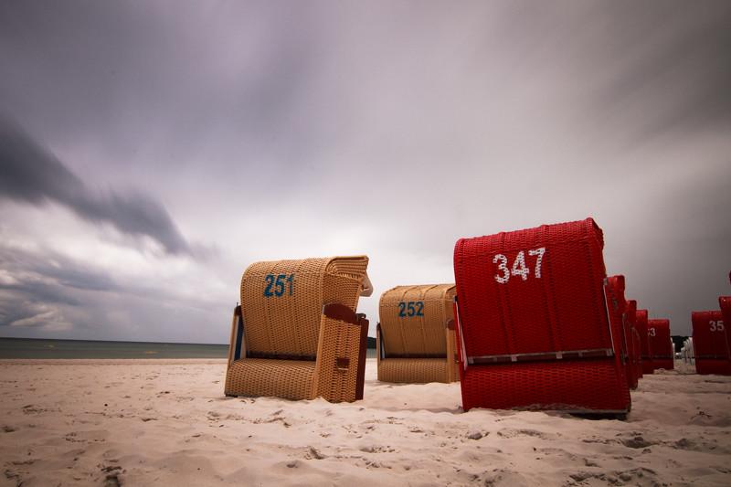 Urlaub in Binz Ostsee Strand Strandkorb