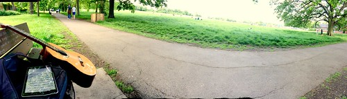 Guitar practice one Sunday afternoon on the Heath #guitar #hampsteadheath #london #sunday
