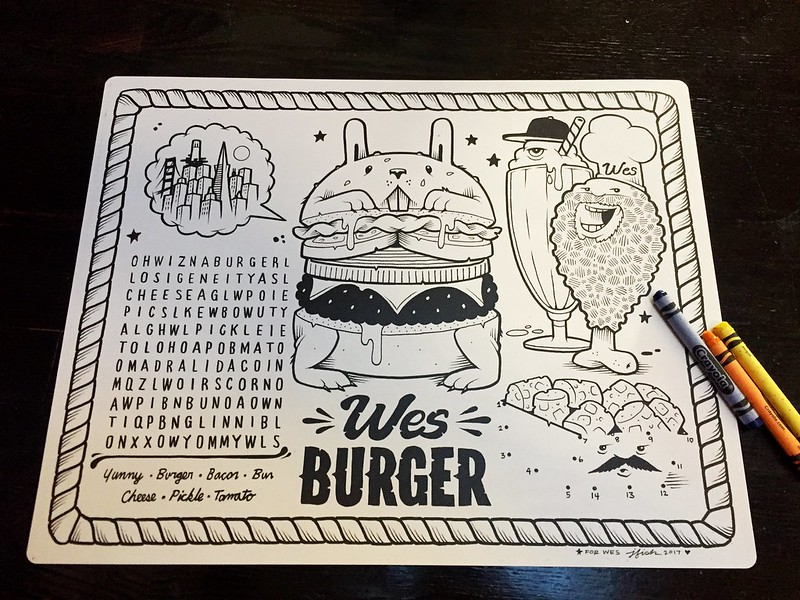 WesBurger activity sheet by Jeremy Fish