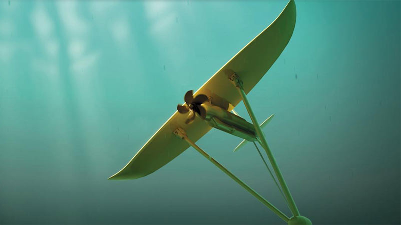 Layang-layang bawah air, Deep Green. Foto: minesto