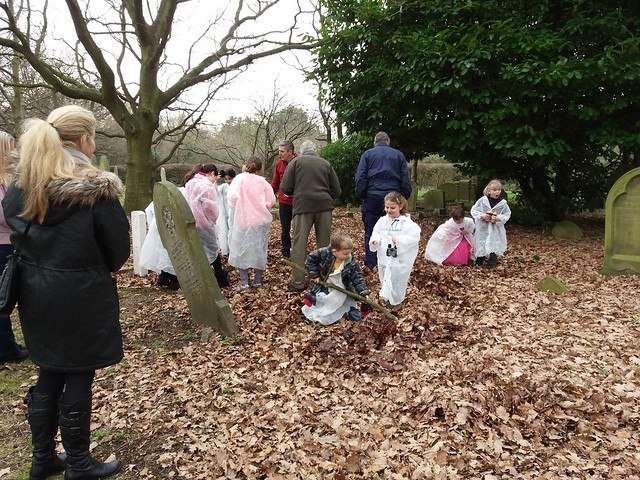 Survey the churchyard activity from chapter 6 of Messy Church Does Science