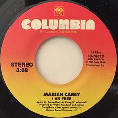 MARIAH CAREY:I AM FREE(LABEL SIDE-A)