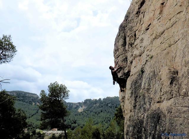 Fernando Micó - Comanche, 6a+ -08- Les Casestes d'en Muntaner, Sector Est, Subsector Rototom (04-06-2017)