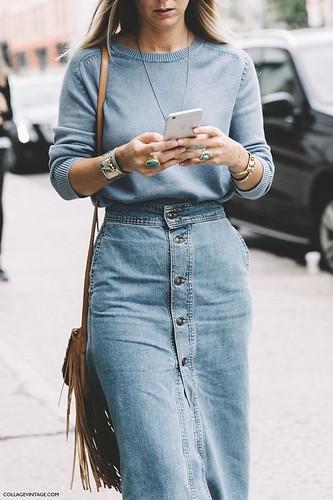 saia midi jeans 5
