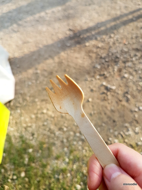 Tiny wooden fork