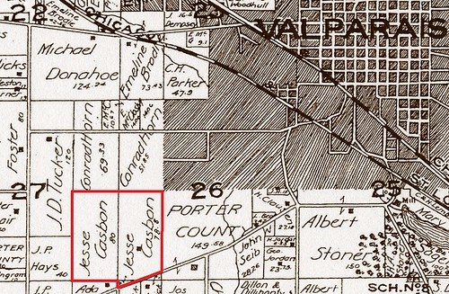 Map Casbon Jesse Center twp 1895