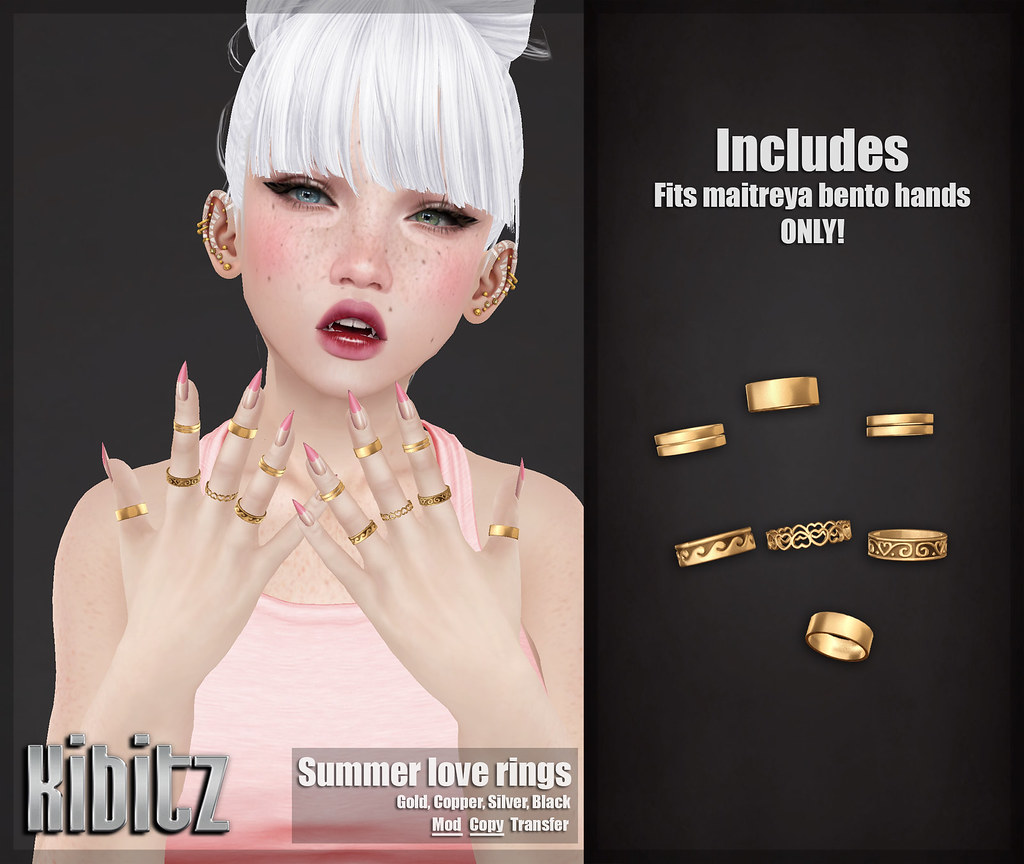 kibitz summer love rings