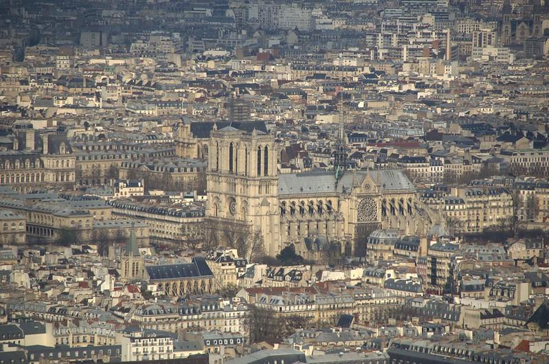 Notre-Dame vista da Torre Montparnasse