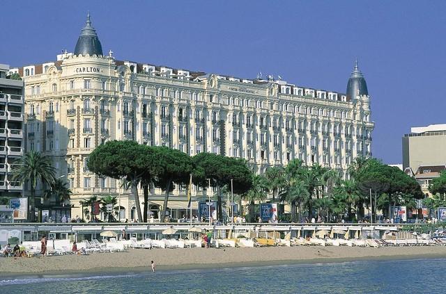 El hotel Carlton en el Boulevard de La Croissette (Francia)