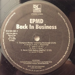 EPMD:BACK IN BUSINESS(LABEL SIDE-D)