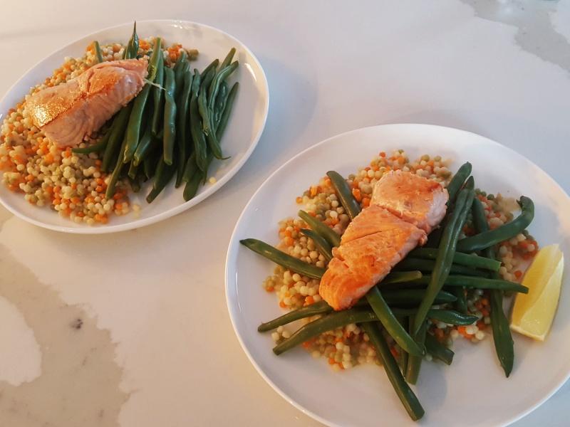salmon couscous beans