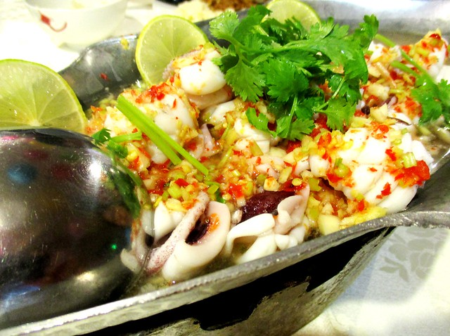 Flavours Thai Kitchen steamed squid in lime sauce