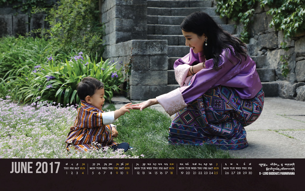 Bhutan calendar: June 2017