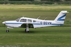G-BGVN - 1979 build Piper PA-28RT-201 Cherokee Arrow IV, rolling for departure on Runway 26R at Barton