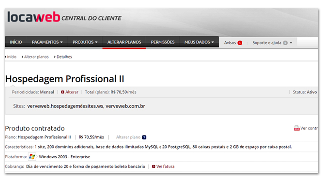 Cliente Locaweb