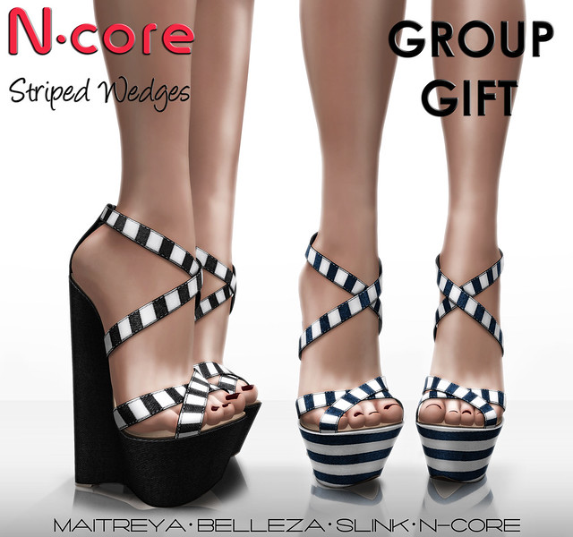 """N-core """"Striped Wedges"""" New GROUP GIFT! """""""