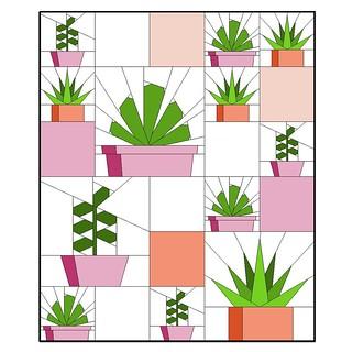 Succulents Quilt
