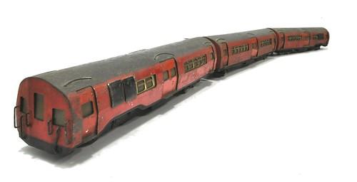 Vintage tube train model