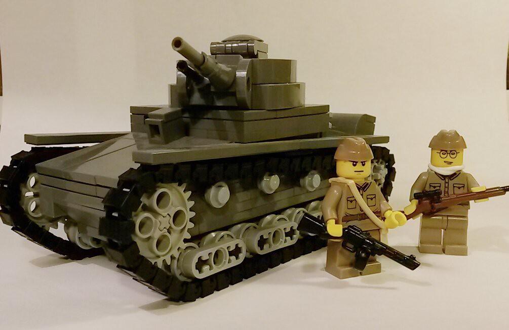 Lego WW2 russian Brickmania t-26 tank   ActionBrick TV   Flickr