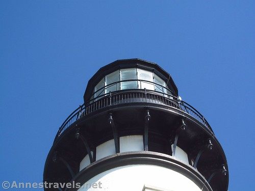 Top of the Yaquina Head Lighthouse near Newport, Oregon