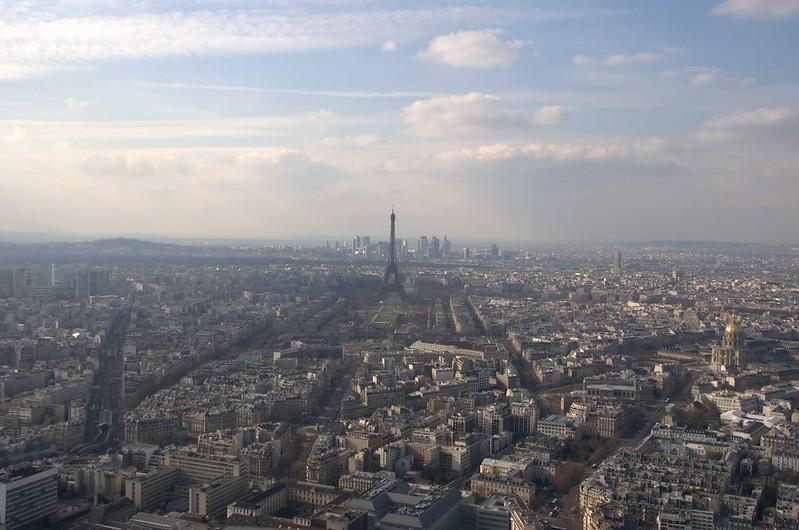 Torrei Eiffel vista da Torre Montparnasse