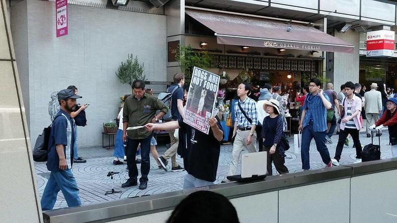 Tokyo Shinjuku, Japan Demonstration - May 20, 2017