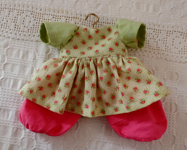 20cm waldorf doll rose flower dress 1