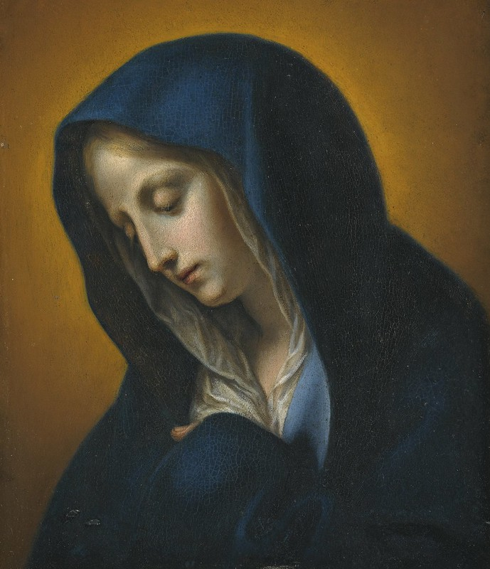 Workshop of Carlo Dolci - The Virgin Annunciate