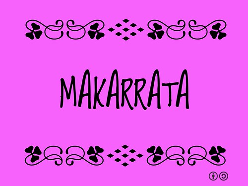 Makarrata = Aboriginal ceremonial ritual symbolizing the restoration of peace after a dispute.