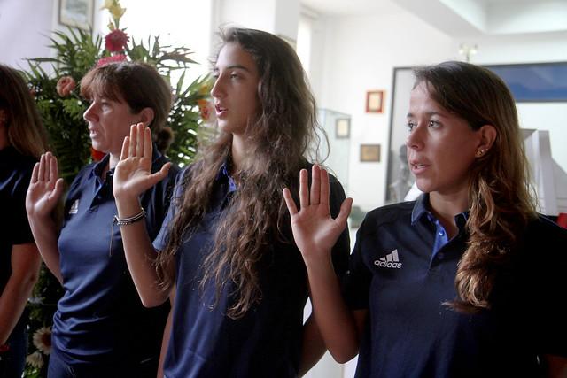 Pentatletas guatemaltecos rumbo al Panamericano