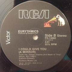EURYTHMICS:SWEET DREAMS(ARE MADE OF THIS)(LABEL SIDE-B)