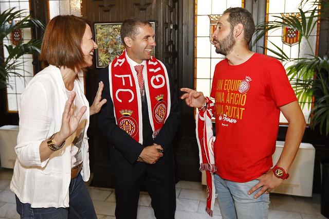 Girona celebra de manera multitudinària i festiva l'ascens del Girona FC a Primera Divisió