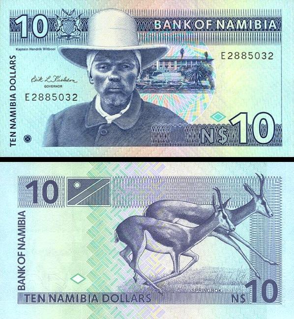 10 Dolárov Namíbia 1993, P1a