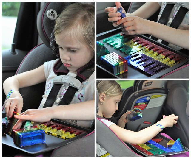 DIY Magnetic Chalkboard Travel Tray & Shape Mags