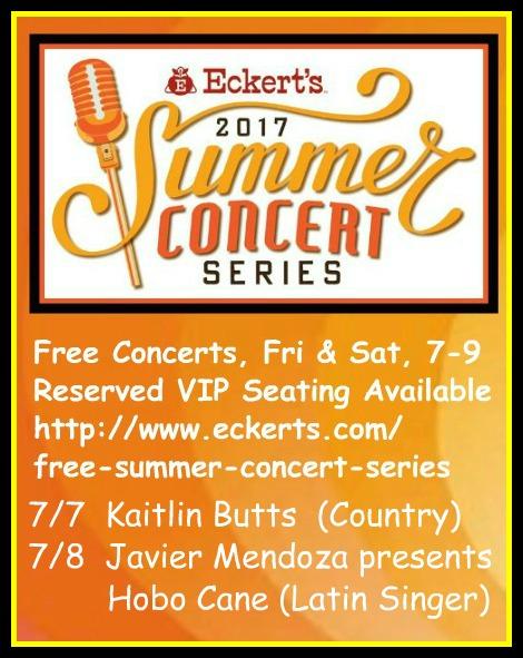 Eckert's Summer Concerts 7-7, 7-8-17