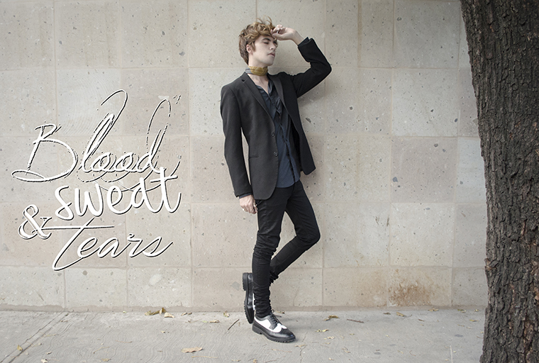 blood sweat tears bts outfit