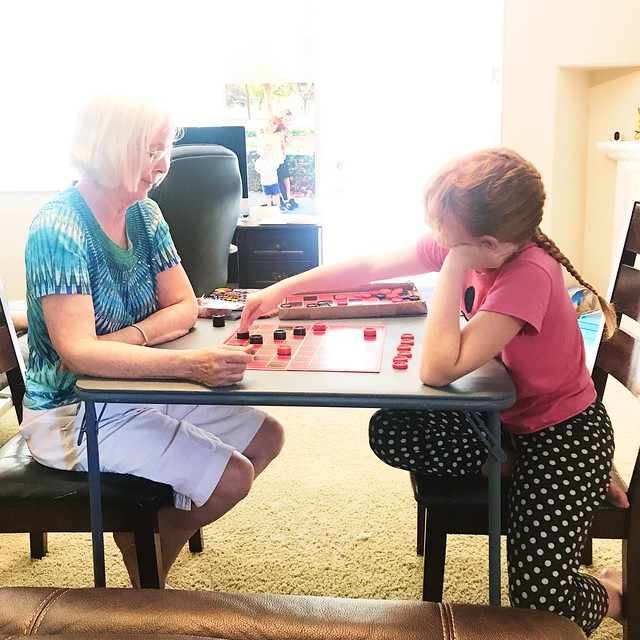 playing checkers with grandma