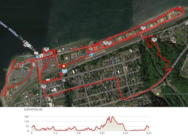 Today's awesome walk, 6.51 miles in 2:22, 14,981 steps, 285ft gain