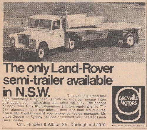 New Land Rover Advert 2017 >> 1972 Land Rover Semi Trailer Newspaper Ad - Australia | Flickr