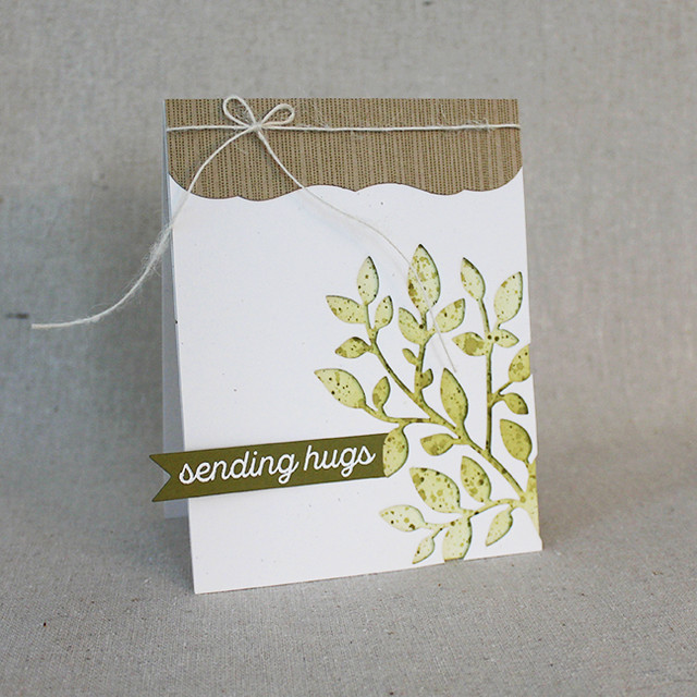 Sending Hugs Branch Card