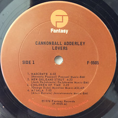 CANNONBALL ADDERLEY:LOVERS...(LABEL SIDE-A)